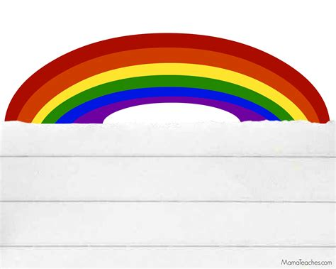 Rainbow Template 5 Best Images Of Rainbow Writing Paper Printable Rainbow