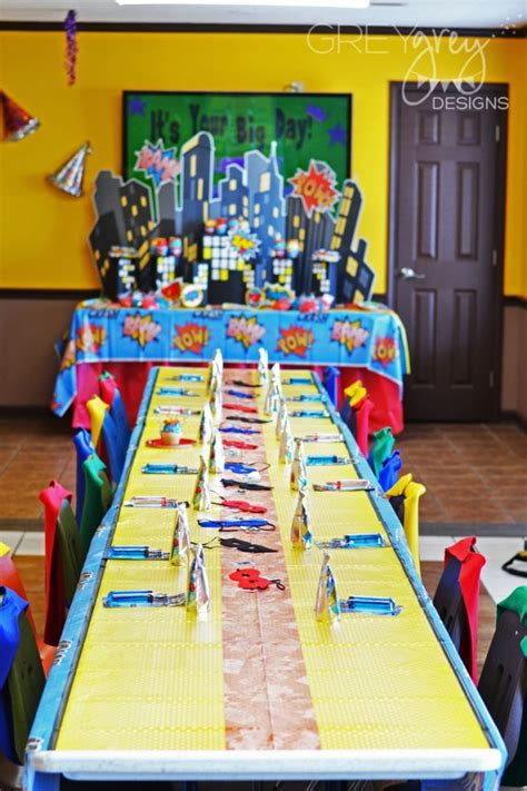 Superhero Birthday Party  Baby Shower Ideas  Themes  Games. Blue Home Decor Fabric. Decorate Binder. Chandelier Living Room. Christmas Party Decorations Ideas. Macys Dining Room Sets. Decorative Bathroom Sinks. Decor Pillows Clearance. Decorative Mirrors Cheap