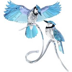 Swarovski Crystal Paradise Pair of Blue Jays Figurine