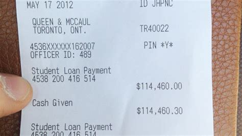 canadian man pays   student loans  cash abc news