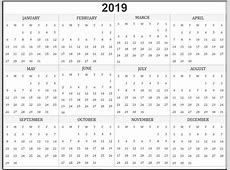 Print Off Yearly Calendar 2019