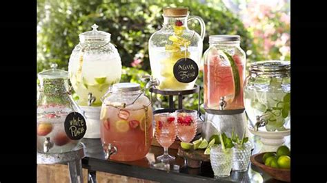 drink table decorating summer garden party decorations youtube
