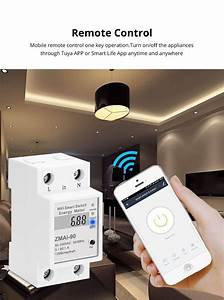 Zemismart Wifi Relay Digital Electric Energy Meter Tuya