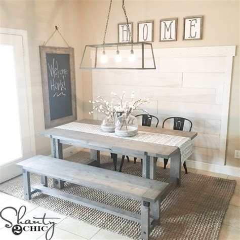 shanty 2 chic farmhouse table diy industrial farmhouse table and how to video shanty 2