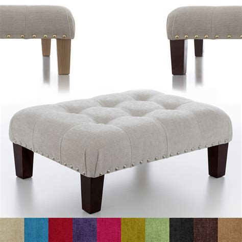 Ottomans And Footstools by New Buttoned Footstool Ottoman Foot Rest Small Large