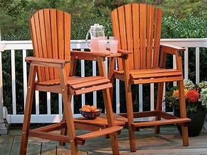 Full Plan Download: Bar Height Adirondack Chair