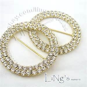 5cm silver gold a grade diamante buckle wedding chair sash ribbon slider ebay