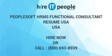 soft consultant resume peoplesoft hrms functional