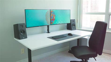 desk big enough for 2 monitors dual monitor workstation desk best home design 2018