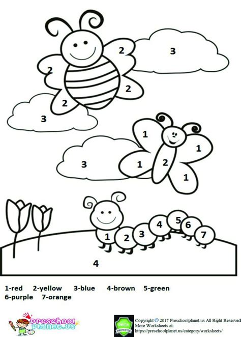 printable spring worksheet  kids spring coloring