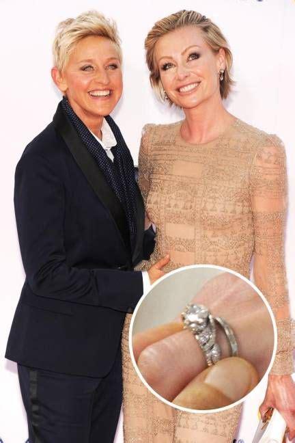 ellen wedding ring celebrity engagement rings portia de rossi celebrity