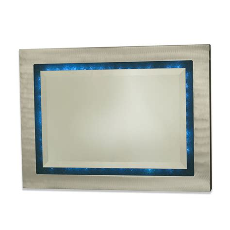 shattered infinity wall mirror brushed aluminum accent