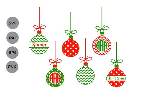 What can i make with a cricut and silhouette? Christmas svg ornaments, christmas ornaments monogram ...
