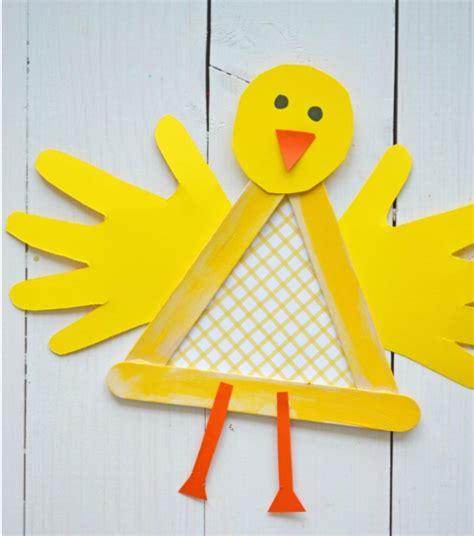 popsicle stick baby chicken craft allfreekidscraftscom