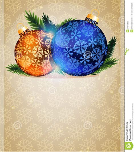 orange and blue christmas decorations tree ornaments stock vector image of background 34540659