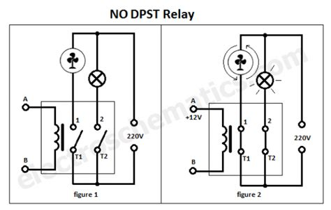 dpst relay pole single throw