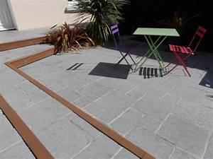 Terrasse En Anglais : terrasse en pierre naturelle et plantations st nazaire ~ Preciouscoupons.com Idées de Décoration