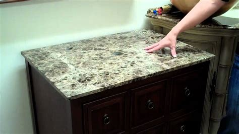 how to attach sink to vanity choosing a bathroom vanity with a vessel sink youtube