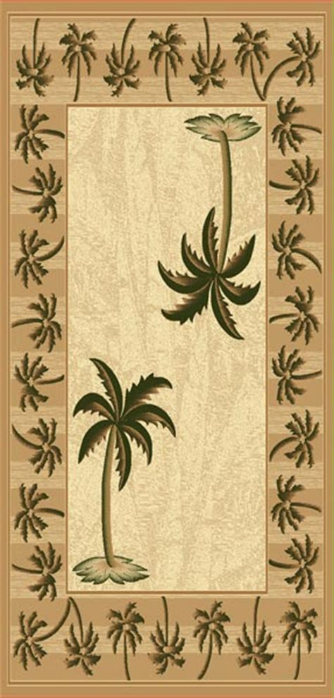 palm tree kitchen rugs images   buy kitchen