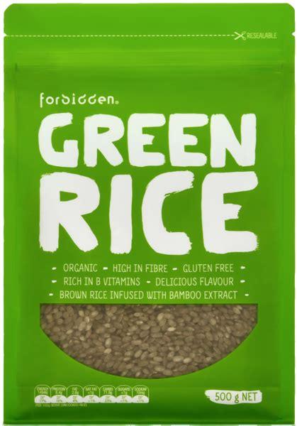 Forbidden Organic Green Rice 500g  Forbidden Foods