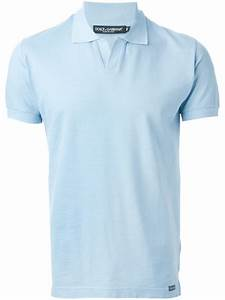 Polo V : dolce gabbana v neck cotton polo shirt in blue for men lyst ~ Gottalentnigeria.com Avis de Voitures