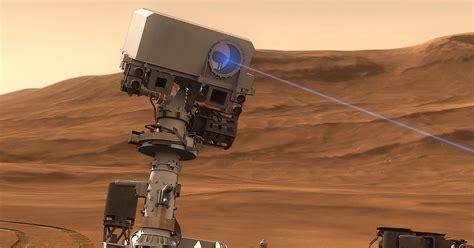 nasas mars rover   good  laser blasting rocks