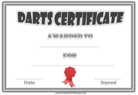 printable darts award customize   print