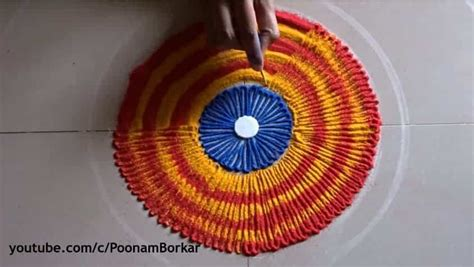 easy quick  beautiful rangoli design simple craft ideas