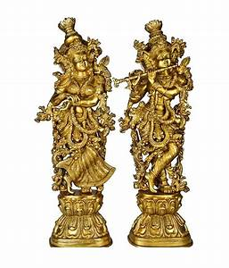 Lord Radha Krishna Statue for your home decoration Brass
