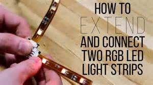 how to extend and connect two rgb led light strips