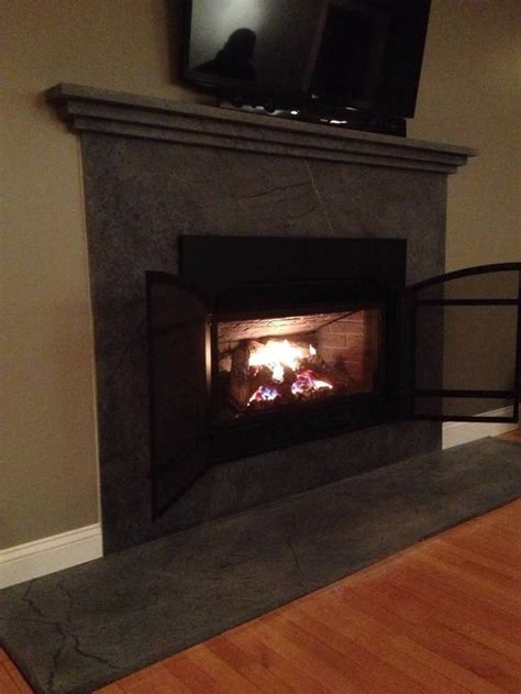Soapstone Hearth Slab by Soapstone Fireplace Next House Fireplaces