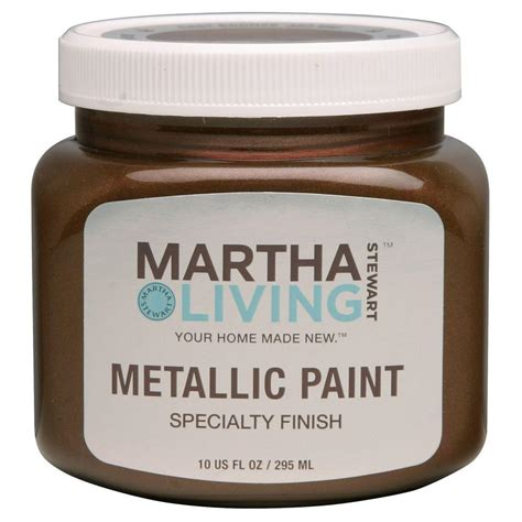 martha stewart living 10 oz cast bronze metallic paint