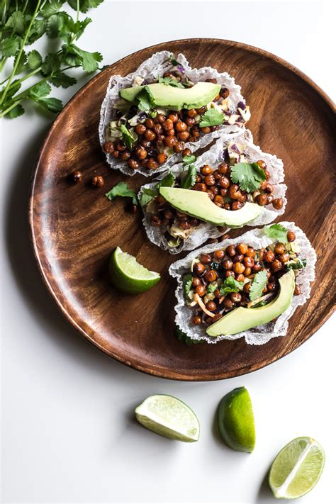 asian chickpea rice paper tacos ful filled