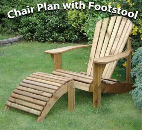 adirondack chair footstool plans  alfrescofurniture