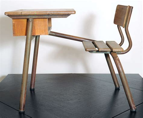 bureau prouvé desk bureau d 39 école possibly jean prouvé for sale at 1stdibs