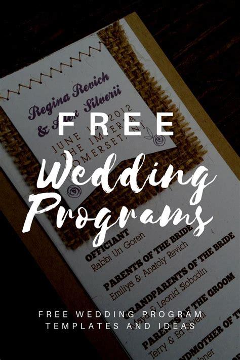 wedding program templates wedding programs wedding