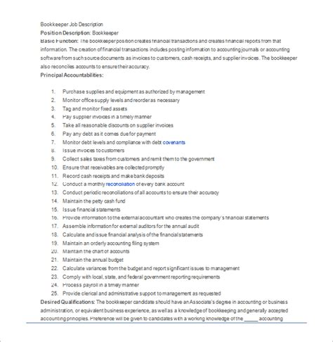 description template 28 free word excel pdf