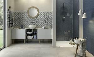 la deco salle de bain en 67 photos magnifiques archzinefr With salle de bain bleu blanc gris