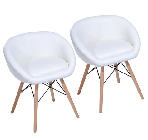 homcom 26 quot eames style mid century modern dining accent