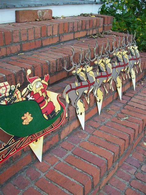 vintage christmas decorations farmhouse yard decor lawn santa