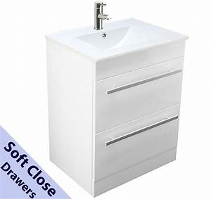 Bathroom vanity unit basin sink tap 600mm square floor for Bathroom sink drawer unit