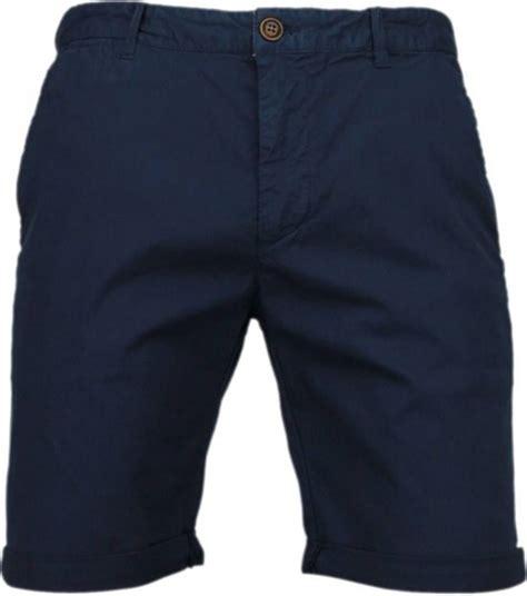 bolcom forex korte broeken heren slim fit chino basic summer navy maten