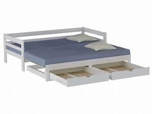 lit gigogne 90x190 cm supercozy coloris blanc vente de With tapis de couloir avec canapé convertible avec tiroir
