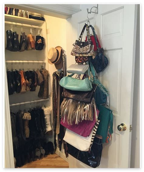 Hanging Purses In Closet by 1000 Ideas About Purse Organizer Closet On