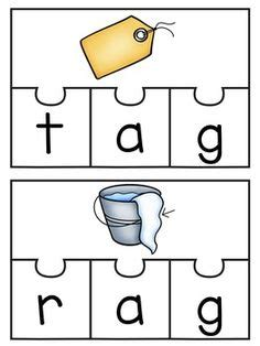 build  cvc word short vowel sound puzzles  cvc