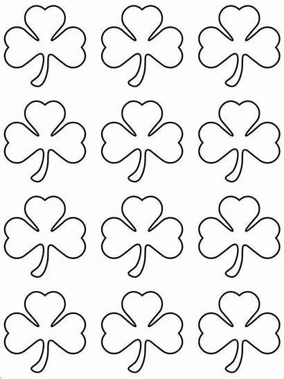 Shamrock Template Pattern Templates Crafts Printable Outline