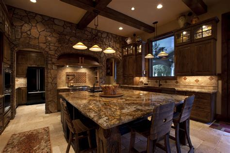 Table Island Kitchen - 25 ideas to checkout before designing a rustic kitchen