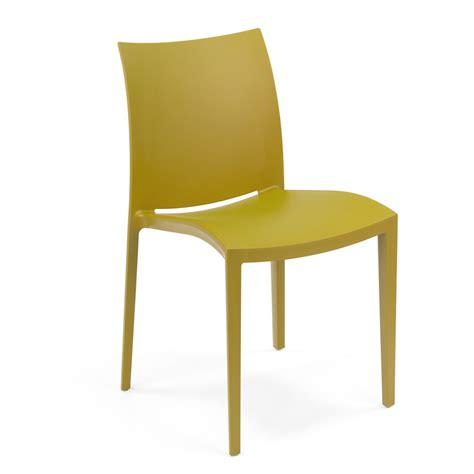 chaises couleur go chaise moderne colico en polypropylène empilable