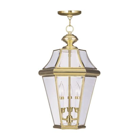 shop livex lighting georgetown 21 in polished brass