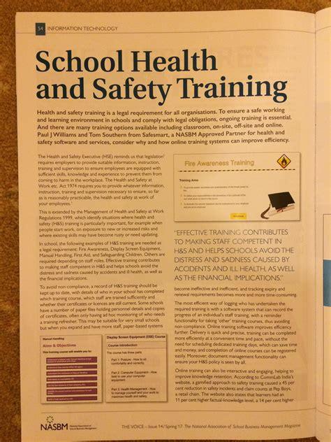 school health  safety training safesmart